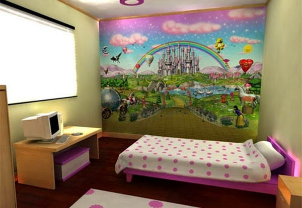 Modern Teenage Bedroom Ideas With Unique Wallpaper Picture