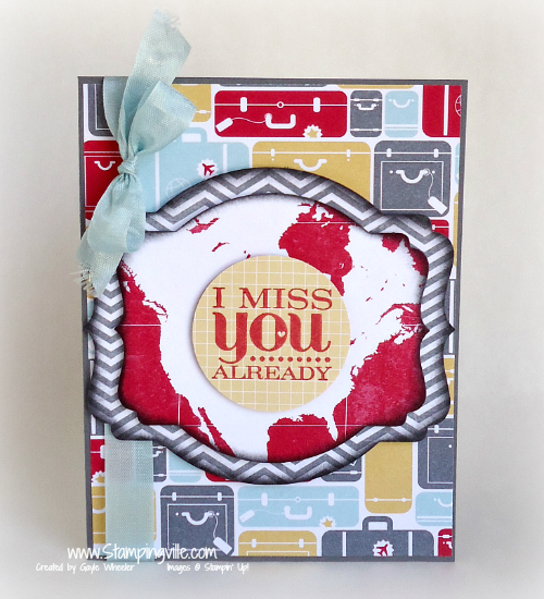 I Miss You: Mix and match challenge card by Stampingville