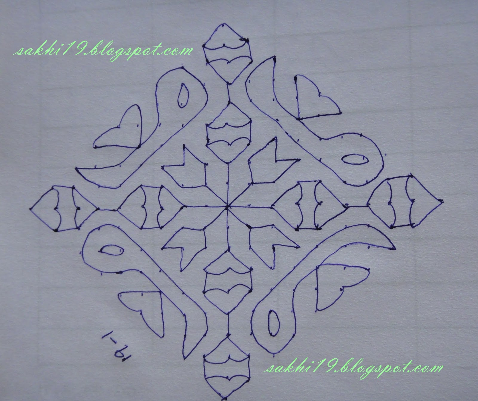 KolamRangoli PatternKolam With Dots. Muggulu Muggulu Designs Muggulu ...