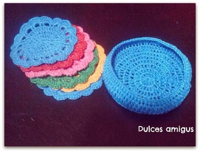 Patrón posavasos a crochet | DulcesAmigus