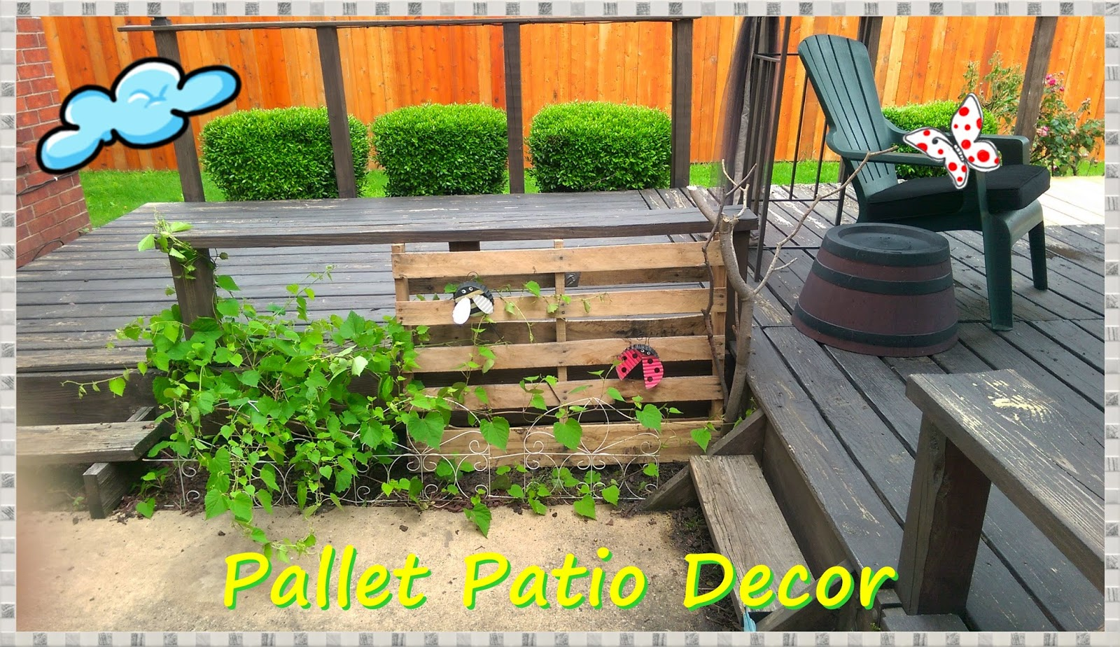 meg made creations pallet patio decor using a pallet On outdoor decorating with pallets
