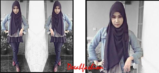Trend Jilbab dan Rok Mini HijaberFashion