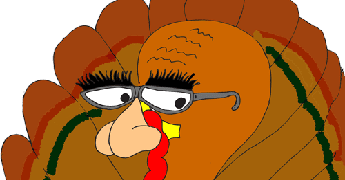 Thanksgiving Silly Turkey Clip Art | FunFreeClipArt.com