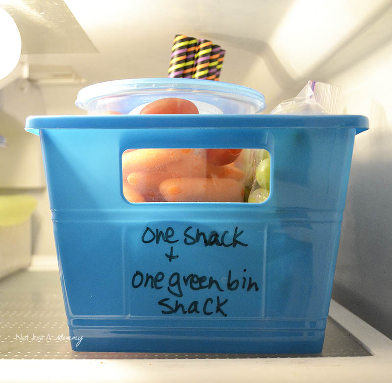 Grab And Go Snack Ideas With Dannon® Danimals® refrigerator bins