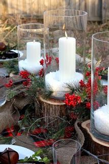 Decoração, natal, rosa calil, ideias velas