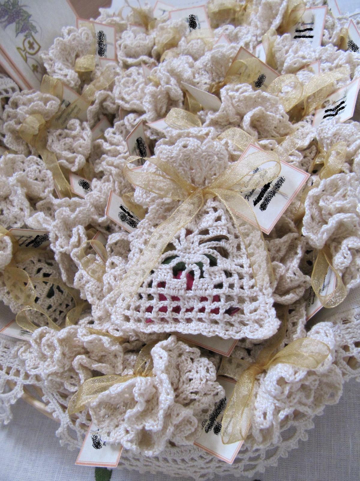 bolsitas de ganchillo para regalo de comunion