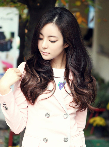 ... long curly hairstyle korean curly hairstyle ideas korean hairstyle