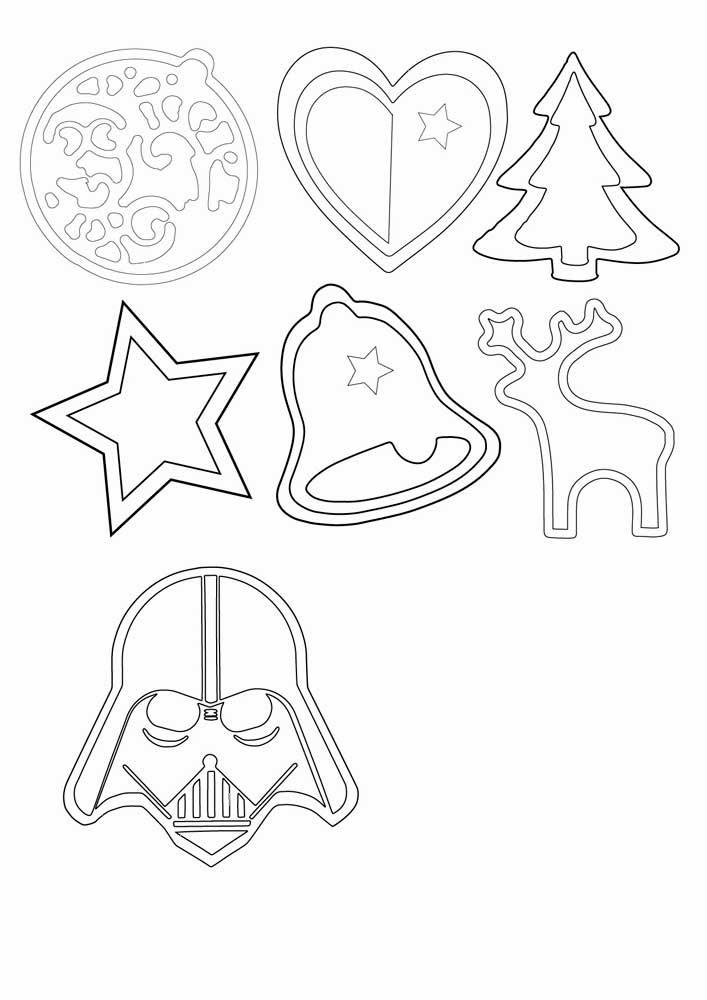 Adornos de navidad en cart n pluma dibujos de colores - Plantillas adornos navidenos ...