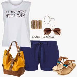 outfit with shorts and graphic tshirt