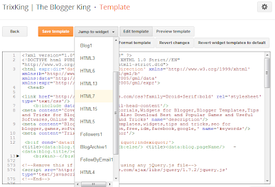 Blogger new template html editor