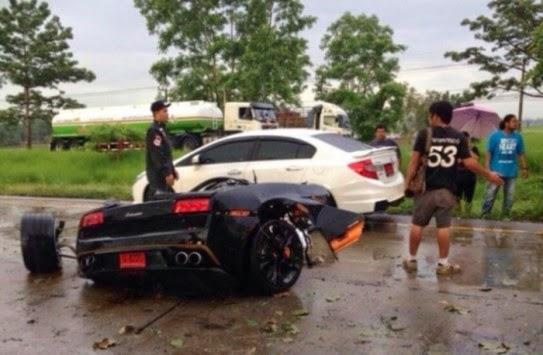 τρακάρισμα με Lamborghini Gallardo
