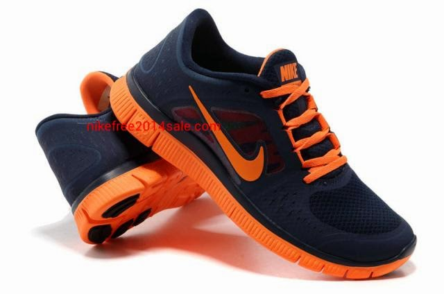 Nike Free Run   3 Mens Running Shoes Light MidnightTotal Orange