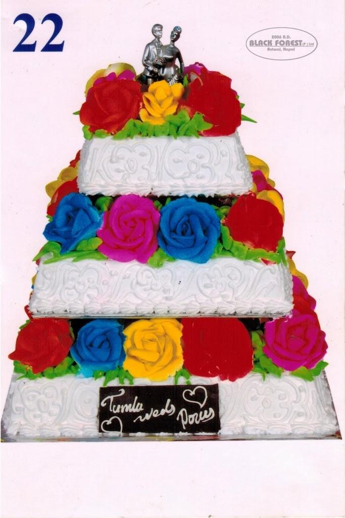 black forest wedding cake 3 steps catalog no 22