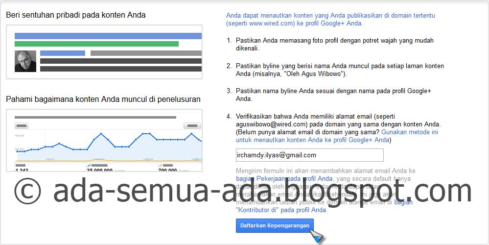 Cara menampilkan foto author blog di pencarian google