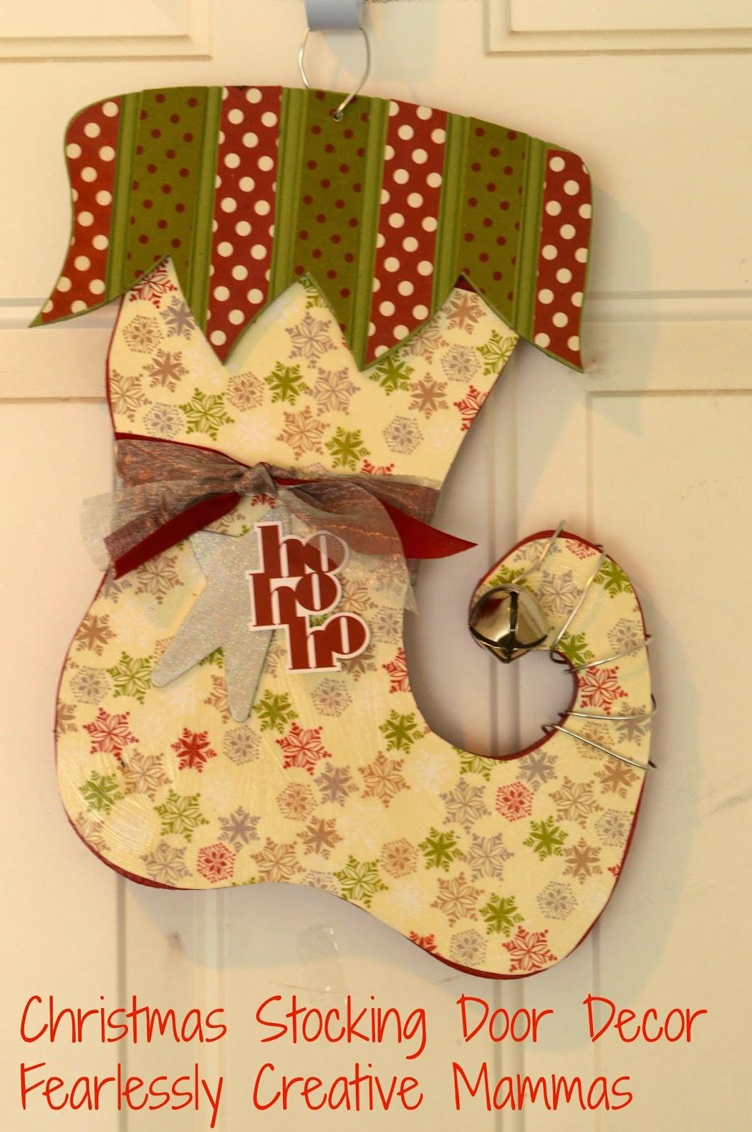 Christmas Stocking Door Decor Giveaway