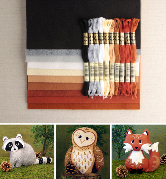 Woodland Animal Patterns // Squishy Cute // Benzie