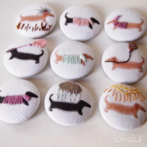 Handmade Dachshund Buttons