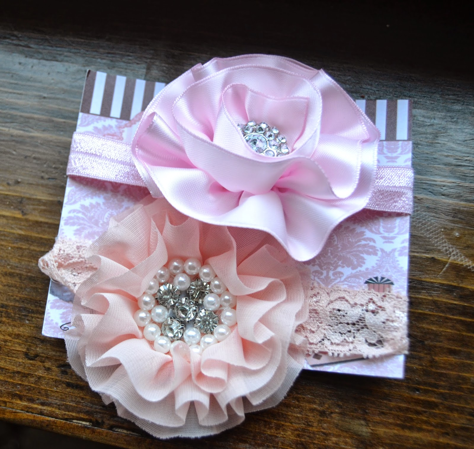 Newborn pink headbands