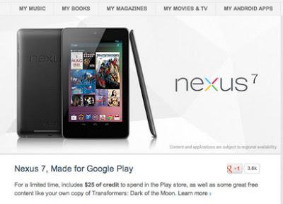 Google Nexus 7 best-selling in United States