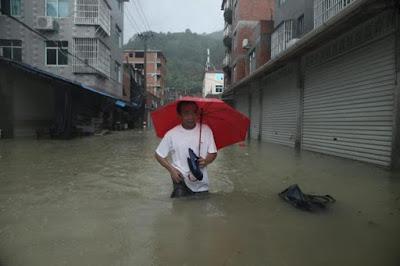 Tifón Soudelor causa inundaciones en el Sur de China