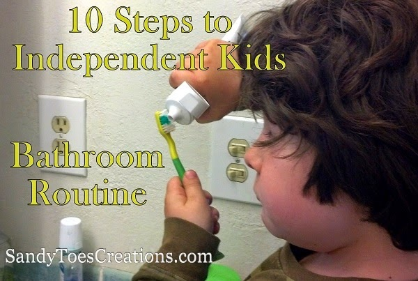 10 Steps to Independent Kids Bathroom Routine #LetsTalkBums