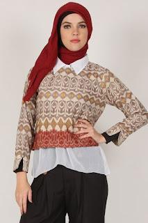 model baju batik kerja muslimah