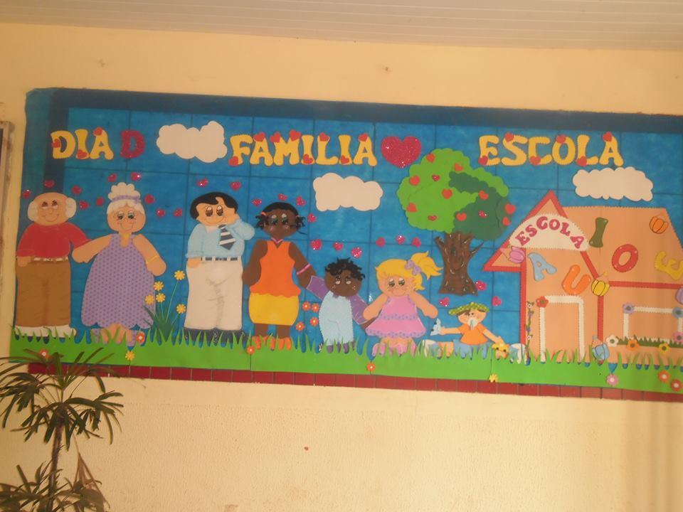 decoracao sala de leitura na escola:Meus Trabalhinhos : PAINEL DIA D – ESCOLA E FAMILIA
