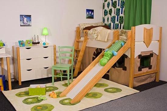 Decora hogar dormitorios con camarotes o literas modernas - Cama infantil con tobogan ...