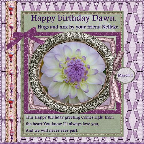 Happy Birthday Dawn .