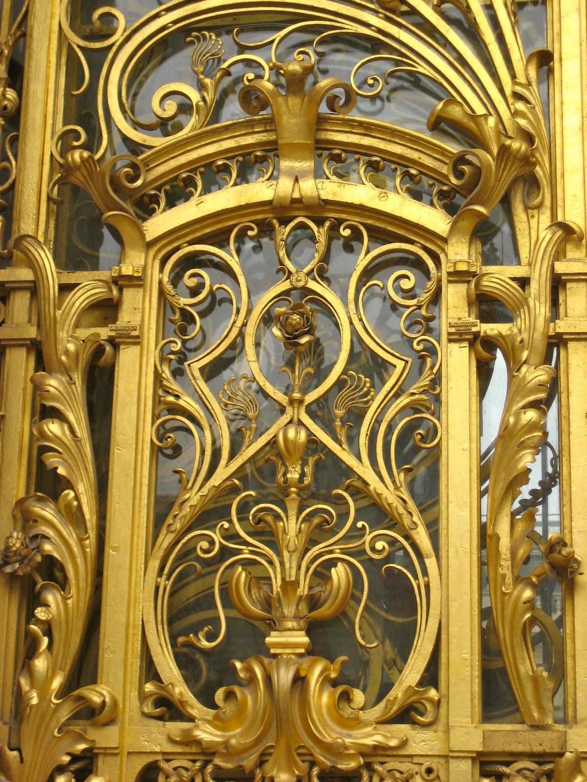 Golden door of the Petit Palais...and rose detail (below). & Paris Rendezvous and Beyond: Golden Experiences in Paris Pezcame.Com