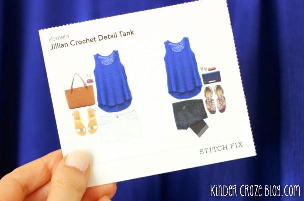 Stitch Fix royal blue Jillian Crochet Detail Tank from Pomelo