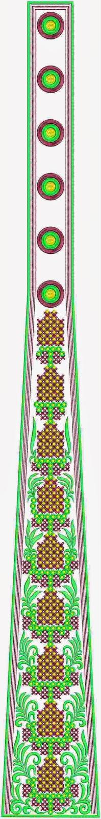 Doriese chiton patroon veelkleurige kali appliekwerk