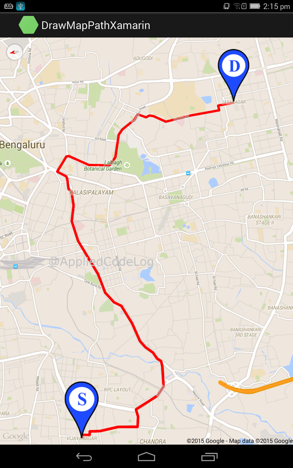 . draw path between two locations in google maps v xamarin android