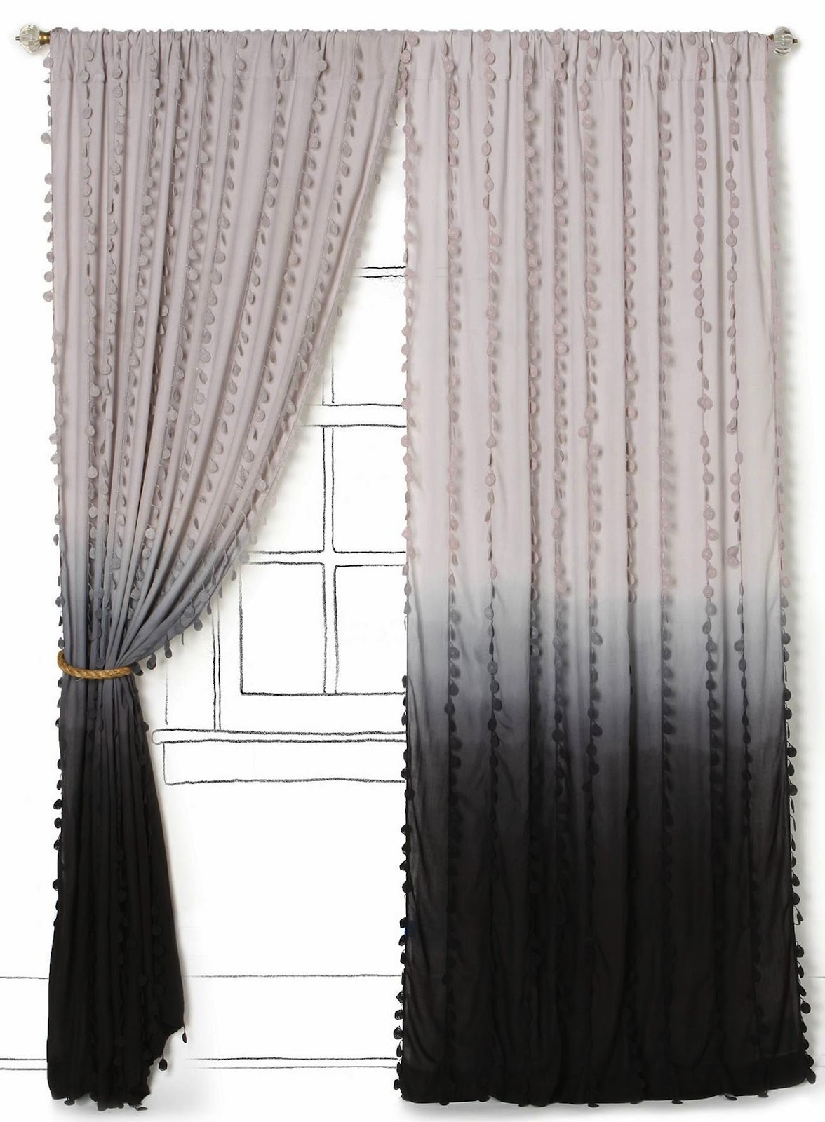 Black ombre curtains - Ombre