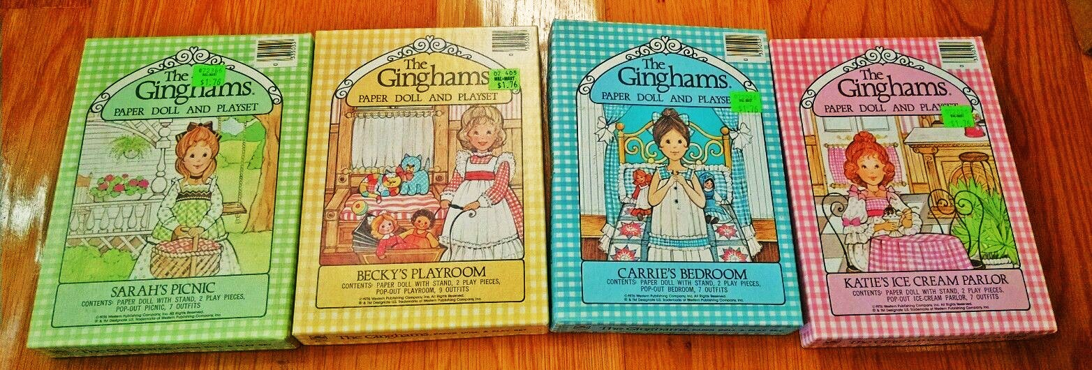 SPRINKLES AND PUFFBALLS: The Ginghams Paper Dolls and Coloring Books