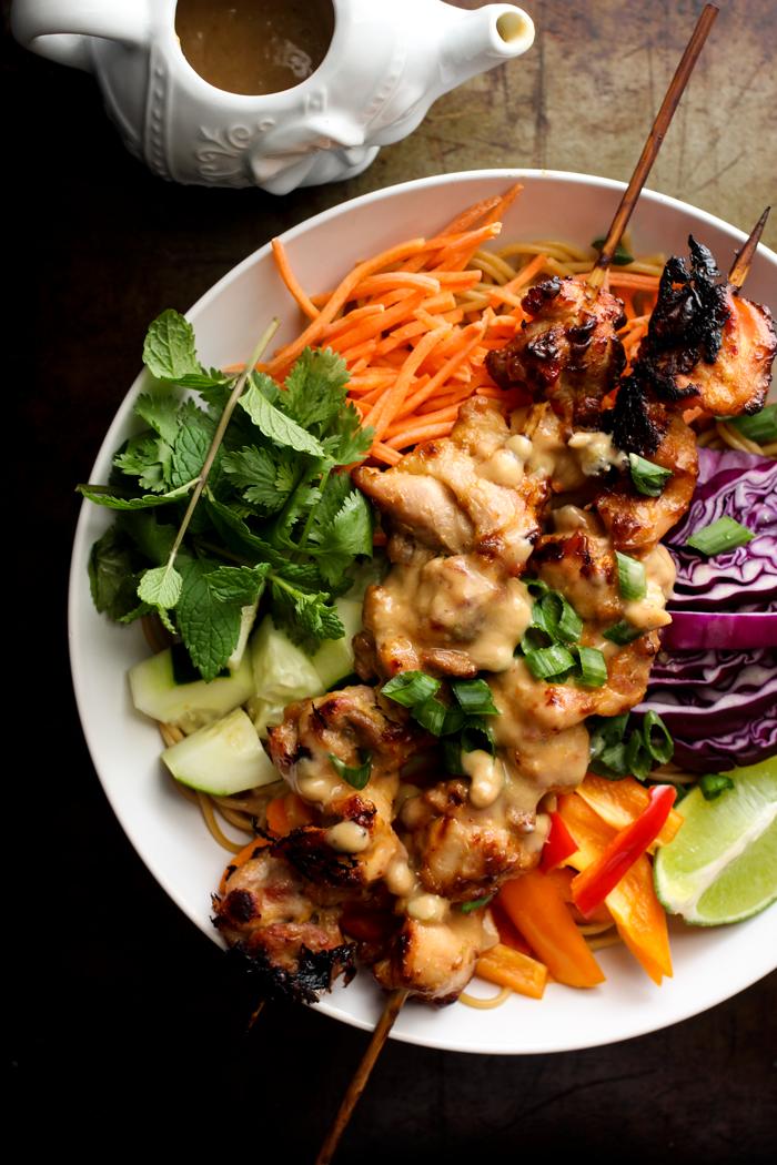 Thai Chicken Satay Salad | Club Narwhal