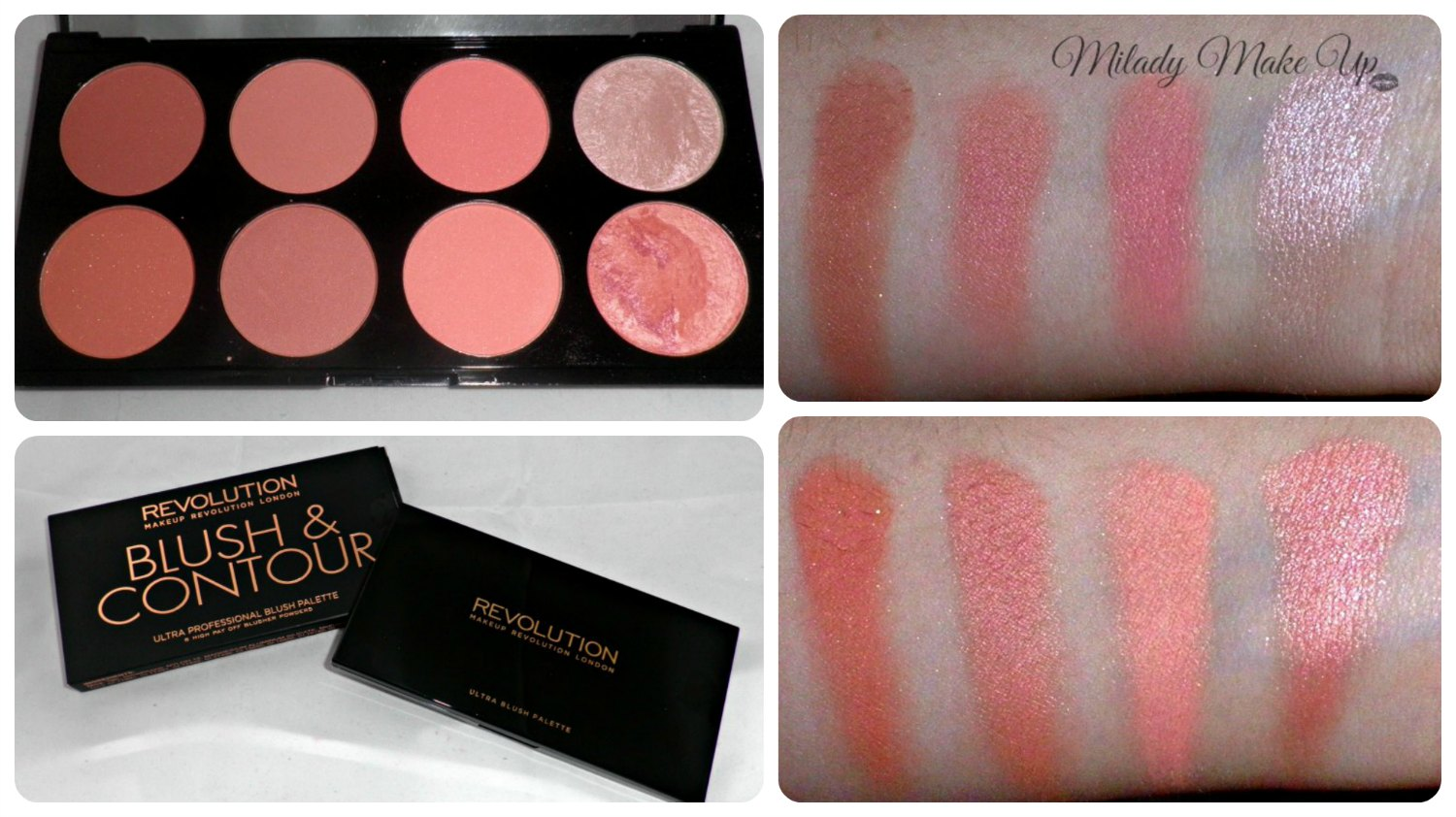 Blush and contour makeup revolution Hot Spice swatches
