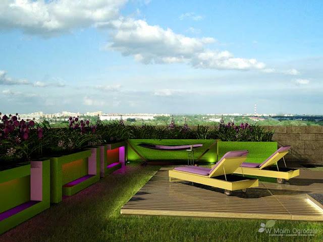 ogrod na dachu, projektowanie warszawa