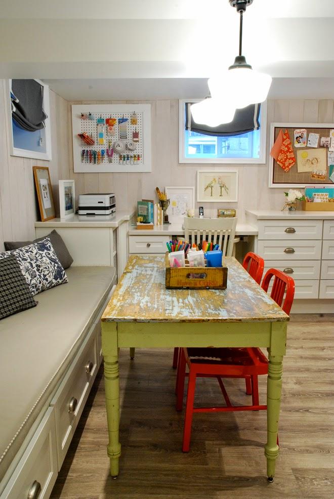 Rambling Renovators | craft zone basement