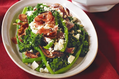 Broccolini with pancetta & feta Recipe