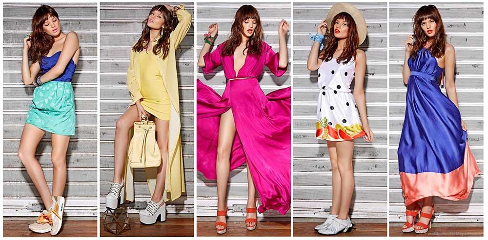 Moda verano 2015, vestidos, monos, faldas y shorts Frany And Zoey verano 2015.