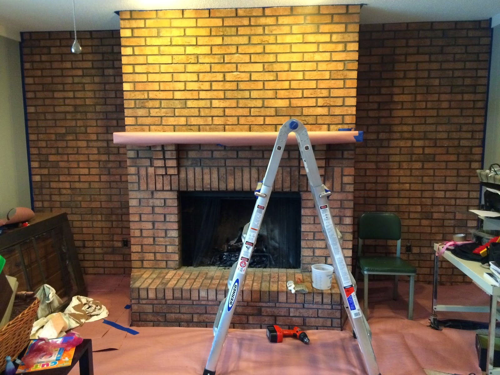 Walking with Dancers The Family Room s Fireplace Update