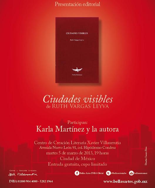 """Presentación del libro """"Ciudades Visibles"""" de Ruth Vargas en el CCLXV"""