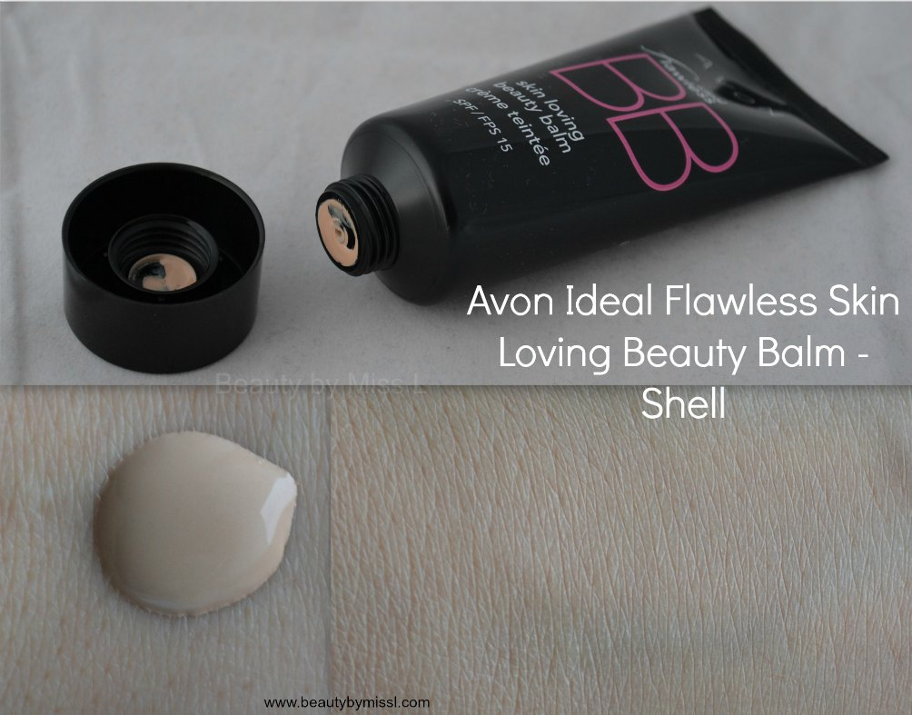 Avon Ideal Flawless Skin Loving Beauty Balm in Shell swatch
