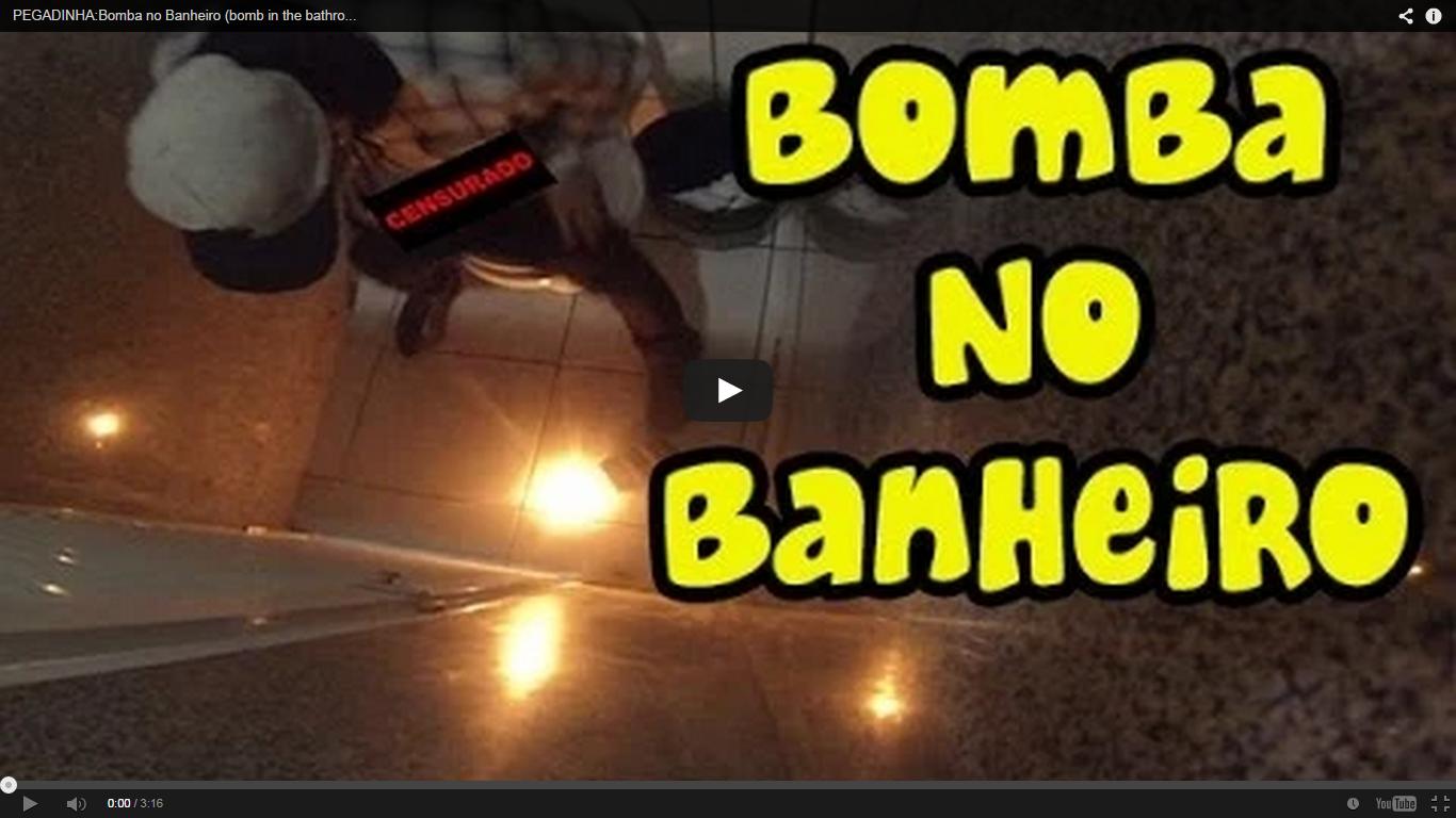 Boom As Melhores Pegadinhas Do Mundo: PEGADINHA:Bomba no Banheiro  #BCBF0C 1366 768