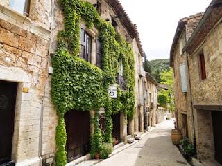 village street, France, Saint Guilhem