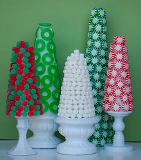 Arboles de Navidad con Caramelos