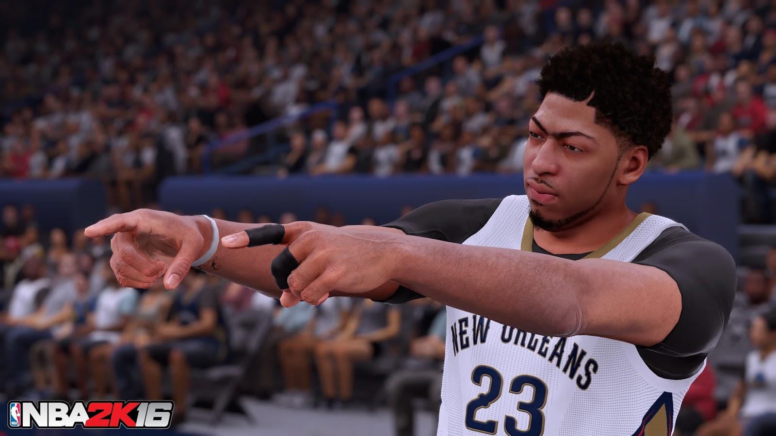 NBA 2K16 4K Screenshots - Stephen Curry, Anthony Davis & James Harden