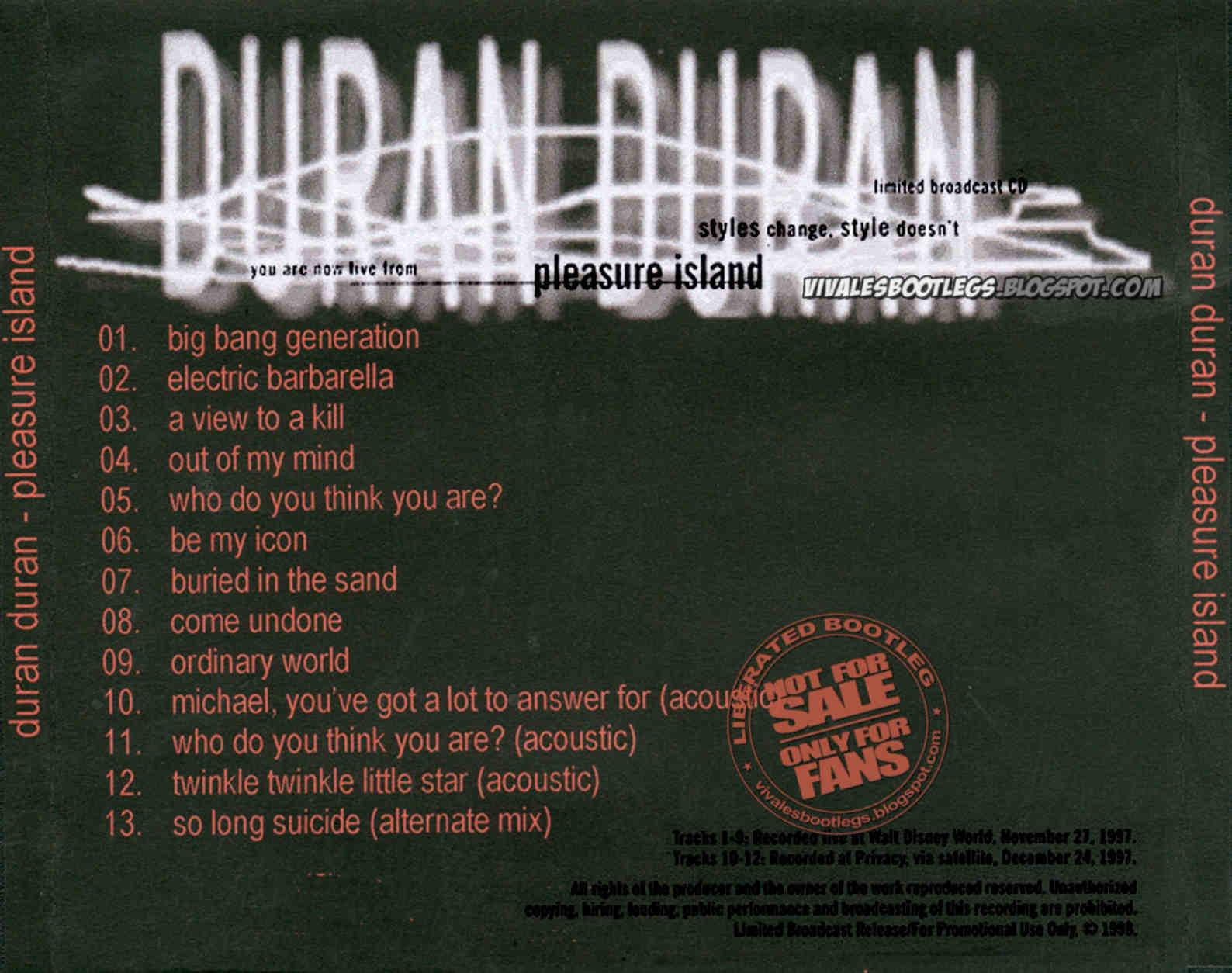 Duran duran pleasure island