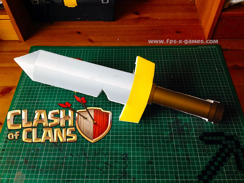 How to create a printable Clash of Clans barbarian sword